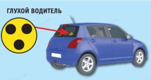 Обезательно ли крепить знак глухой на машине