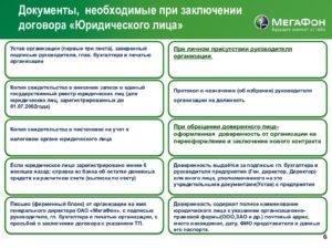 Пакет документов для заключения договора между юридическими лицами