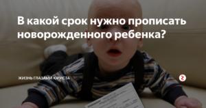 В течении какого срока нужно прописать новорожденного ребенка