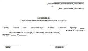 Выплата материальной помощи к отпуску в бюджетных учреждениях