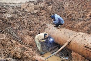 Время на устанение аварий наружных сетей водопровода