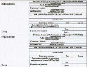 Оплата госпошлины на продление оружия 3 единицы