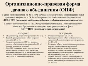 Организационно правовая форма тсж