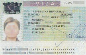 Получить визу в хорватию  если жить в черногории