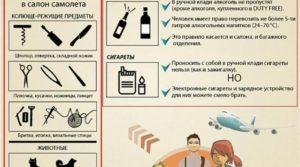 Перевозка вещей в самолете правила