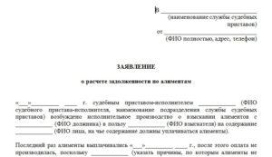 Заявление на розыск должника по исполнительному производству образец