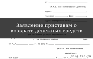 Заявление в суд о возврате незаконно списанных денежных средств приставами