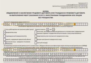 Образей уведомления форма 13 беженец украины