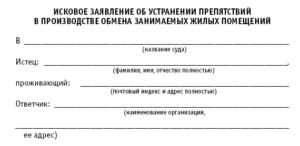 Заявление в полицию о нечинении препятствий в пользовании квартирой