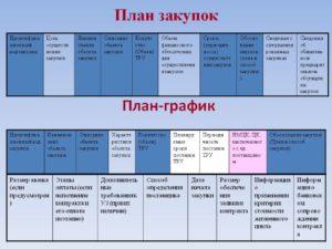 План закупок и план график на 2020 для казенных учреждений