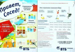 Полис страхования квартиры втб цена