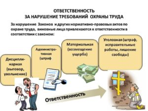 Виды ответственности работников виновных в нарушении трудового законодательства