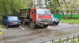 Можно ли ставить грузовики во дворах