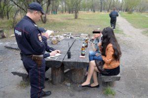 Административное правонарушение распитие в общественных местах