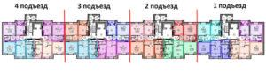 Как идет нумерация квартир в доме гордеевкая 42