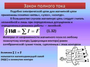 Закон полного тока для магнитной цепи