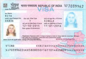 Виза в индию для россиян 2020 цена