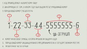 Огрн расшифровка первой цифры 1