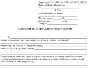 Заявление в агентство недвижимости образец