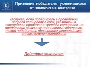 44 фз уклонение от заключения контракта запрос котировок