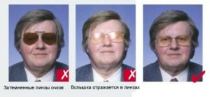 Как фотографироваться на паспорт рф если носишь очки