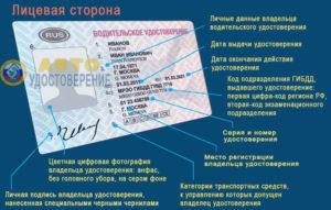 Маркировка водительского удостоверения