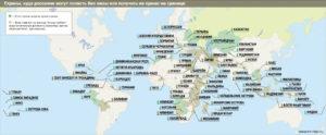 На какие острова мира можно попасть без виз