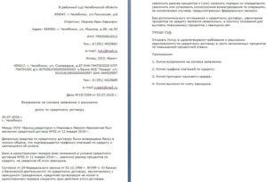 Возражение в районный суд образец по кредитному договору