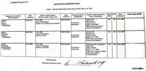 Архивная выписка из паспортного стола