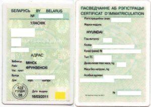 Как оформить авто из белоруссии документы для регистрации