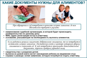 Перечень документов для получения алиментов на ребенка в россии