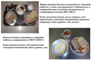Нормы питания заключенных в россии