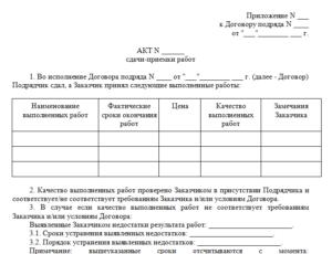 Акт о завершении ремонтных работ квартиры
