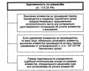 Определение задолженности по алиментам рк