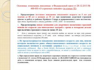 Статья 30 32 закона от 28 12 2013 400 фз