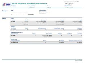 Мои документы кредитная история