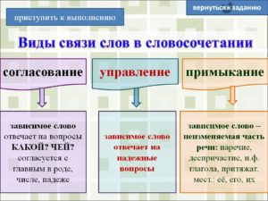 Виды управления в русском языке